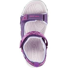 Viking Footwear Sandoey Sandales Enfant, plum/fuchsia